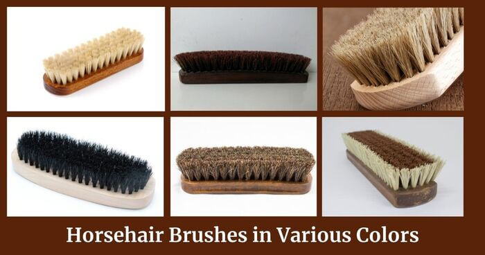 Horsehair brushes in different colors