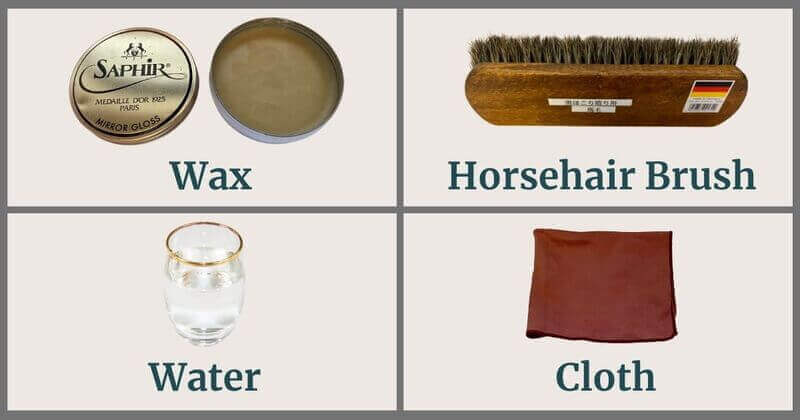 4 Tools for Mirror Polish of Leather Shoes