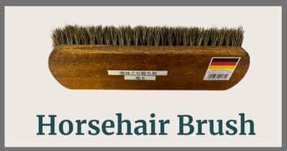 4 Tools for Mirror Polish of Leather Shoes_horsehair brush
