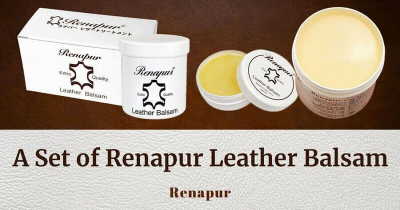 A Set of Renapur Leather Balsam