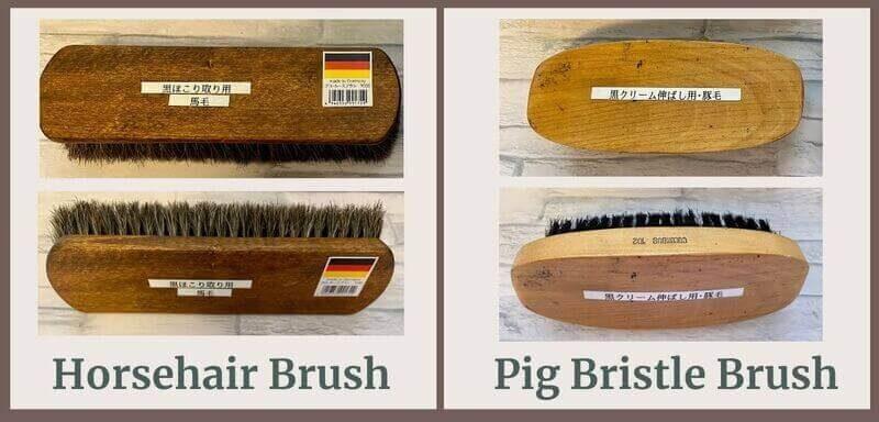 Comparison of Horsehair brush and PIg bristle brush