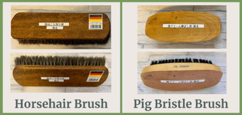 Horsehair brush and Pig bristle brush green color
