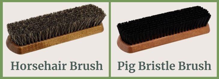Horsehair brush and Pig bristle brush