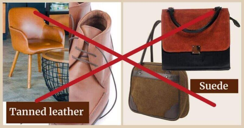 Leathers cannot be used with Renapur