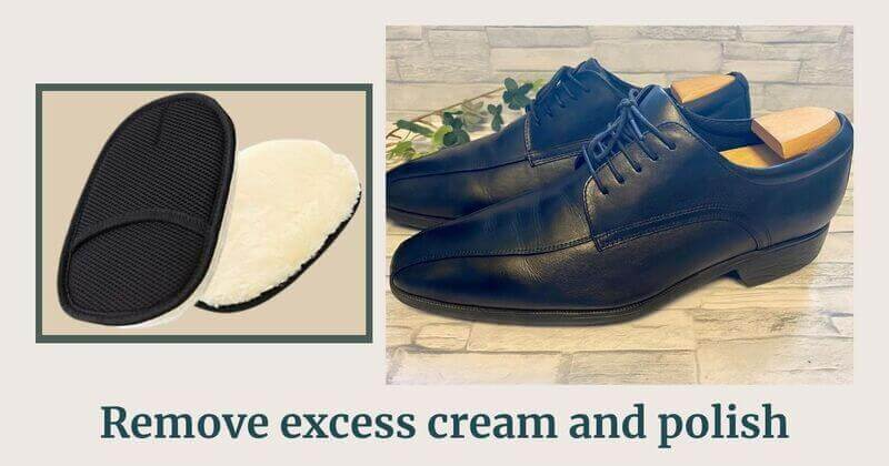Remove excess cream and polish