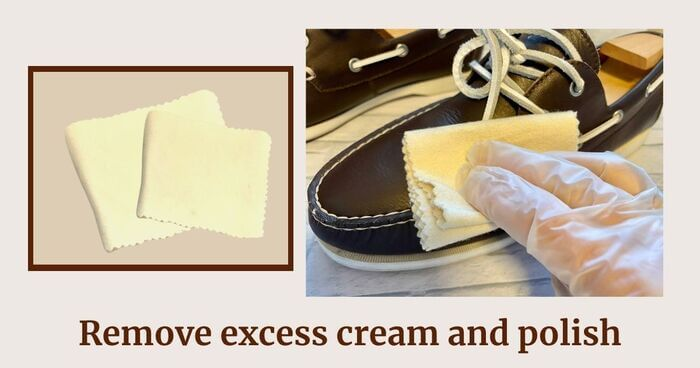 STEP7 Wipe dry with a glove or cloth to remove excess cream
