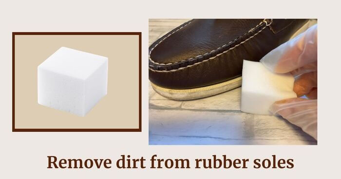 Step3 Remove dirt from the rubber sole