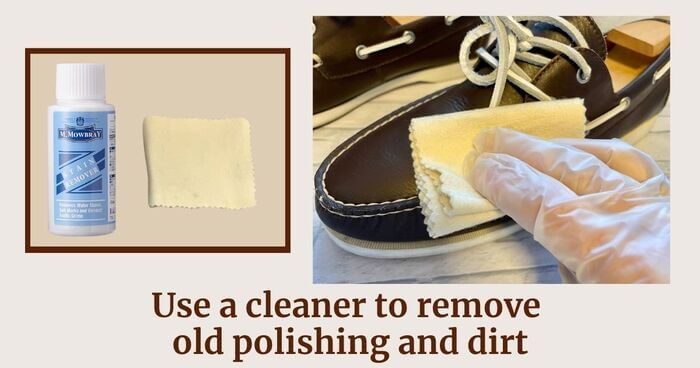 Step4 Remove old polishing cream and dirt