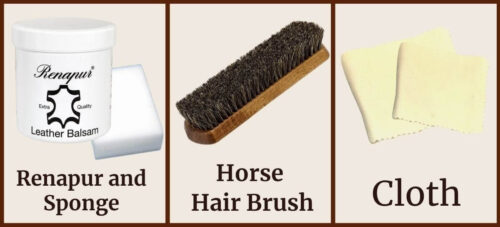 Tools to prepare when caring for leather products