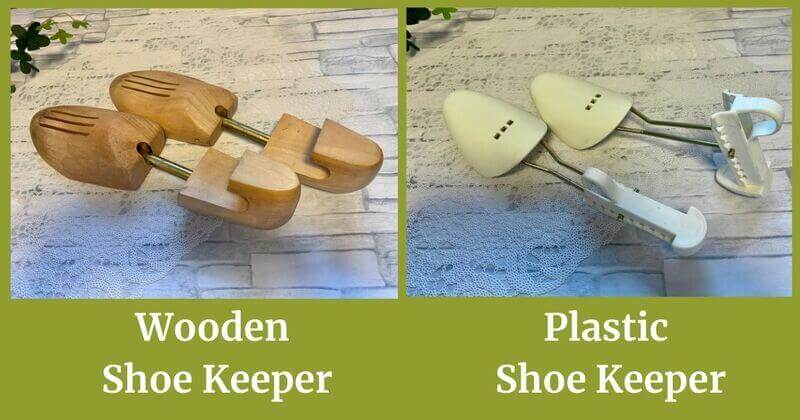 Wooden shoe keeper and plastic shoe keeper