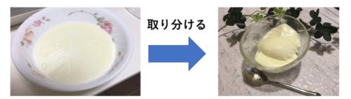 杏仁豆腐取り分け