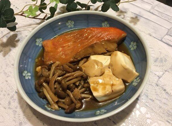 金目鯛の煮つけ食卓